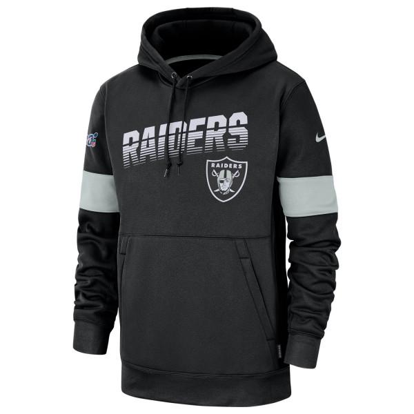 Oakland Raiders 2019 NFL Sideline Therma Hoodie Schwarz