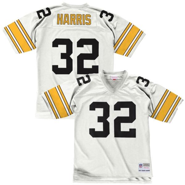 Franco Harris #32 Pittsburgh Steelers Legacy Throwback NFL Trikot Weiß
