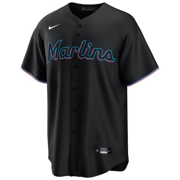 Miami Marlins Nike MLB Replica Alternate Trikot Schwarz