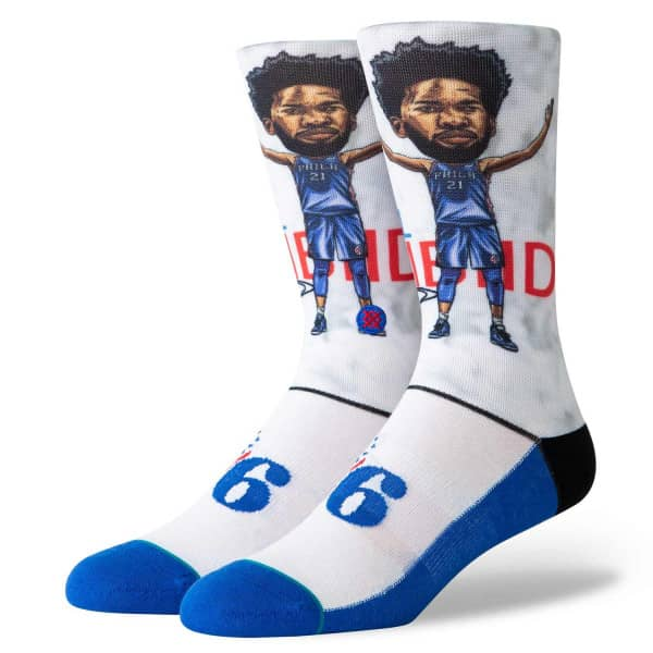 Philadelphia 76ers Joel Embiid Big Head NBA Socken