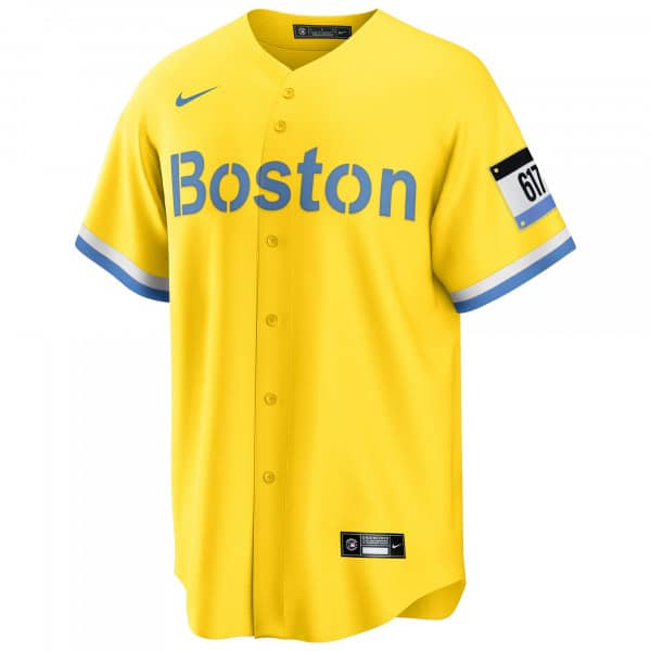Boston Red Sox Official Replica Nike 2021 City Connect MLB Trikot Gelb