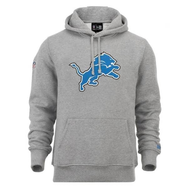 Detroit Lions Logo Hoodie NFL Sweatshirt Grau