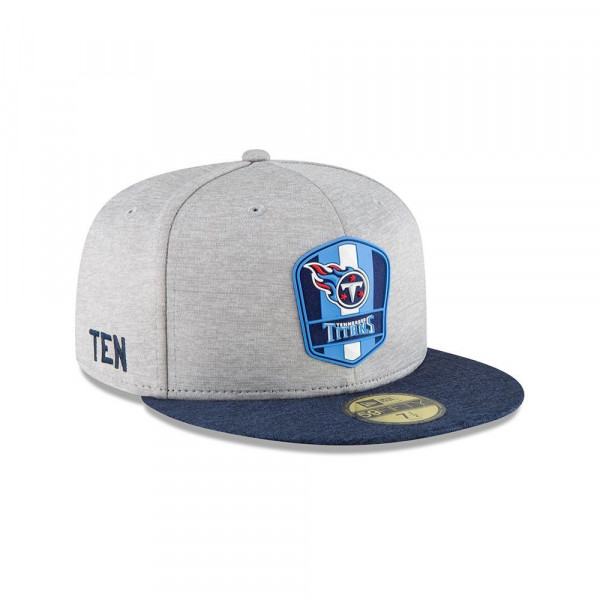 Tennessee Titans 2018 NFL Sideline 59FIFTY Fitted Cap Road
