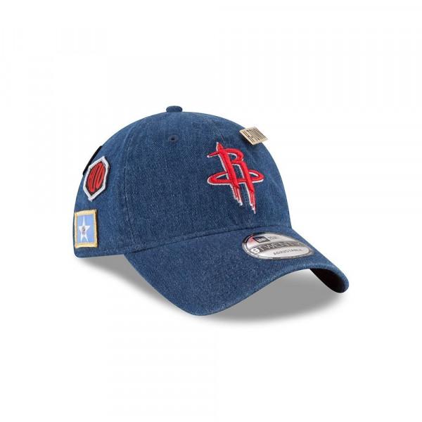 official photos d58d8 01f11 New Era Houston Rockets 2018 NBA Draft 9TWENTY Adjustable Cap Blue Denim    TAASS.com Fan Shop
