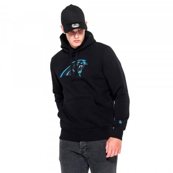 Carolina Panthers Logo Hoodie NFL Sweatshirt Schwarz