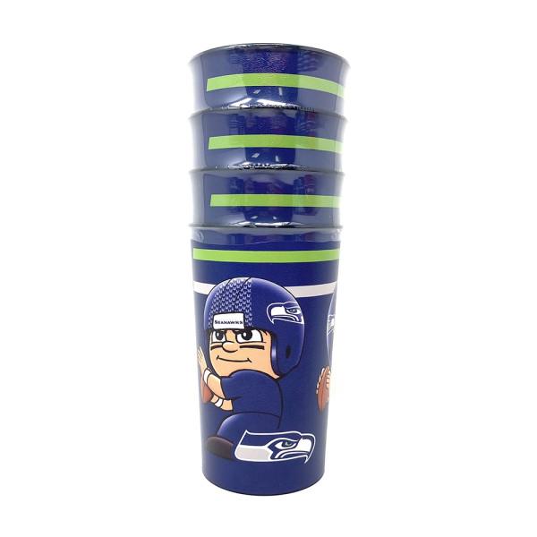 Seattle Seahawks NFL TeenyMates Partybecher-Set (4 Stk.)
