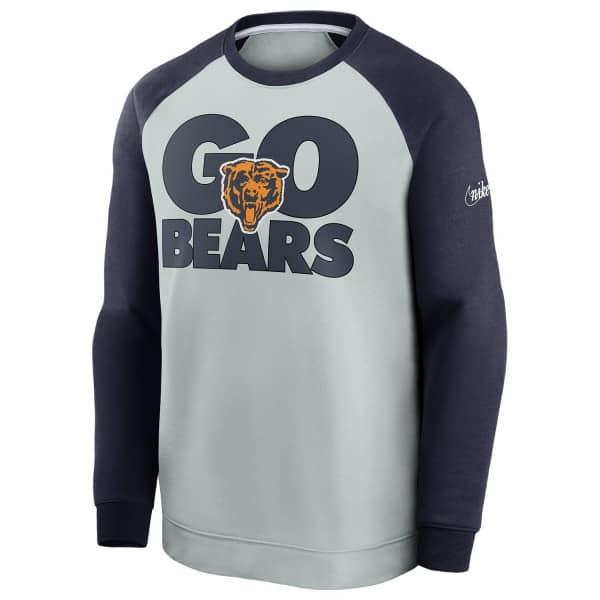 Chicago Bears GO BEARS Nike Throwback NFL Crewneck Pullover