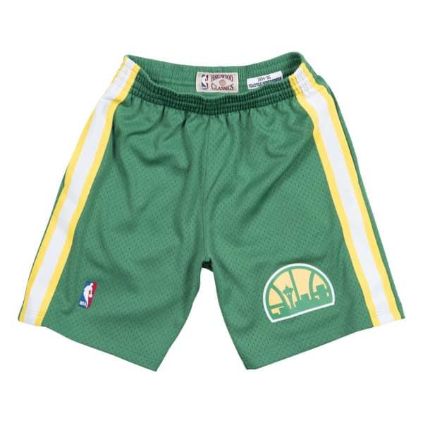 Seattle SuperSonics 1994-95 Swingman NBA Shorts Grün