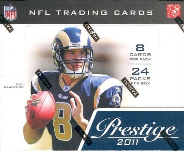 2011 Panini Prestige Football Hobby Box NFL