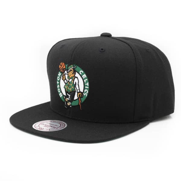 new concept 62612 8aa16 Mitchell   Ness Boston Celtics Wool Solid Snapback NBA Cap Black   TAASS.com  Fan Shop