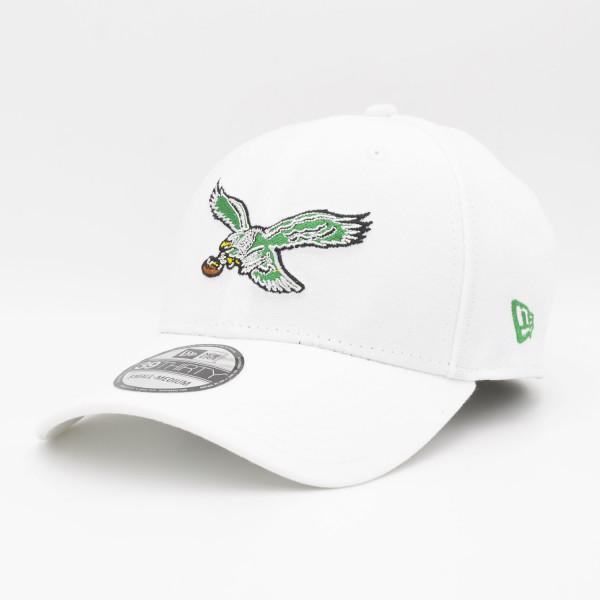 Philadelphia Eagles White Throwback New Era NFL 39THIRTY Flex Cap