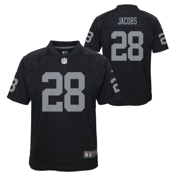 Josh Jacobs #28 Las Vegas Raiders Nike Game Youth NFL Trikot (KINDER)