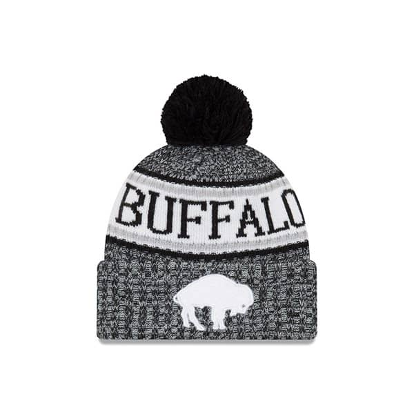88eeac73cb71cc New Era Buffalo Bills HISTORIC BLACK 2018 Sideline Sport Knit NFL Knit Hat  | TAASS.com Fan Shop