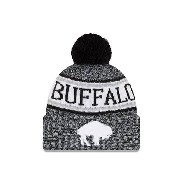 New Era Buffalo Bills HISTORIC BLACK 2018 Sideline Sport Knit NFL Knit Hat   1a32ccb63175
