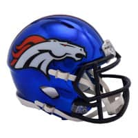 Denver Broncos NFL Chrome Alternate Speed Mini Helm
