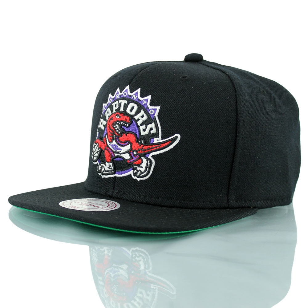 f34692a9aaf Mitchell   Ness Toronto Raptors Wool Solid Snapback NBA Cap Black Throwback