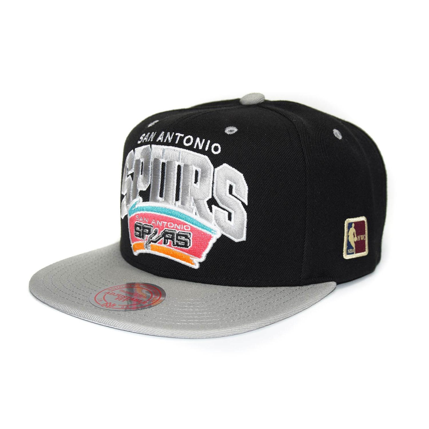 buy popular 49871 a0460 Mitchell   Ness San Antonio Spurs Team Arch Snapback NBA Cap  w HWC Patch    TAASS.com Fanshop