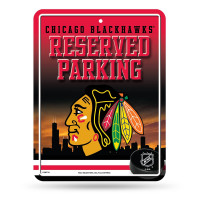 Chicago Blackhawks Reserved Parking NHL Metallschild