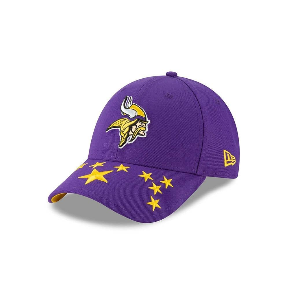 new concept d7329 0a635 New Era Minnesota Vikings 2019 NFL Draft 9FORTY Adjustable Cap On-Stage    TAASS.com Fan Shop