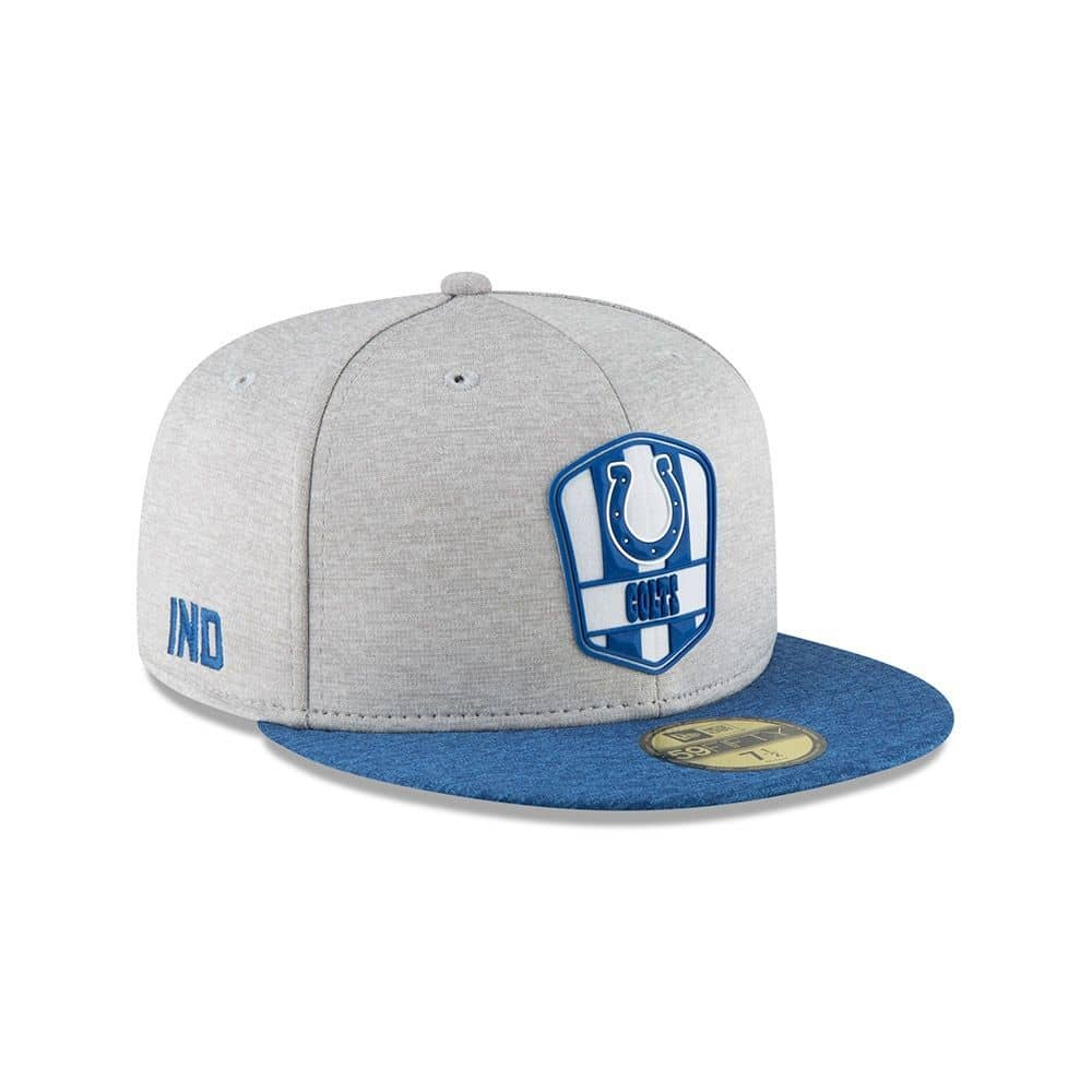 sale retailer 1b6b3 90264 New Era Indianapolis Colts 2018 NFL Sideline 59FIFTY Fitted Cap Road   TAASS .com Fan Shop