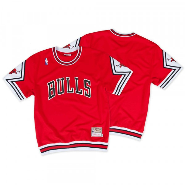 finest selection 80f9d 94eea Chicago Bulls Hardwood Classics Authentic Shooting Shirt Red