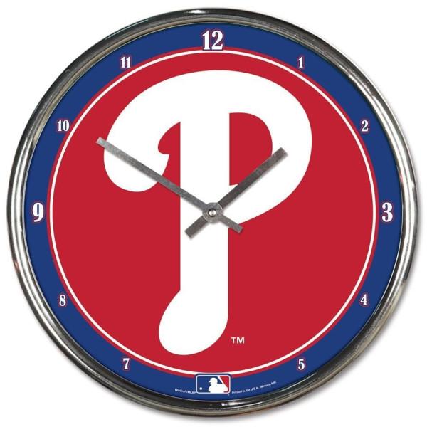 Philadelphia Phillies Chrome MLB Wanduhr