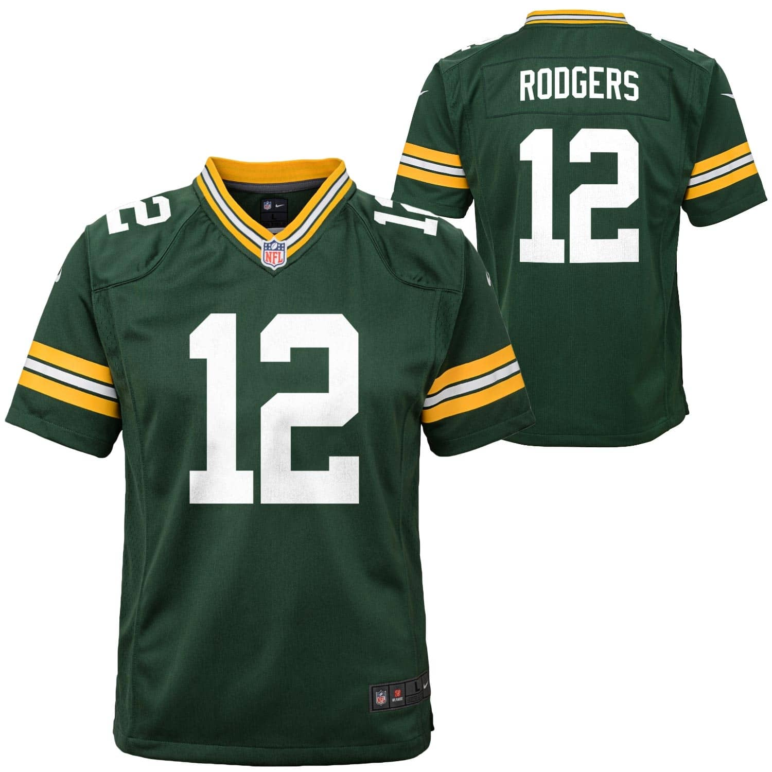 f30ab8e40ef Nike Aaron Rodgers #12 Green Bay Packers Youth Game Football NFL Jersey    TAASS.com Fan Shop