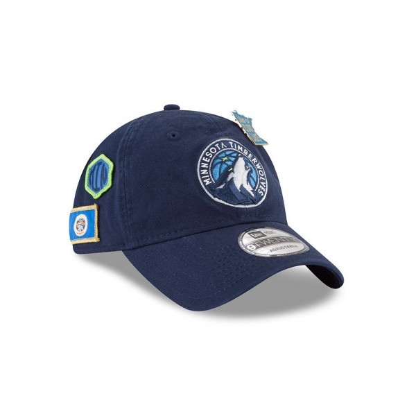 2857e9d2 New Era Minnesota Timberwolves 2018 NBA Draft 9TWENTY Adjustable Cap Navy |  TAASS.com Fan Shop