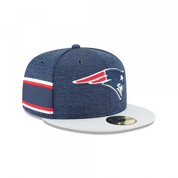 New England Patriots 2018 NFL Sideline 59FIFTY Fitted Cap Home