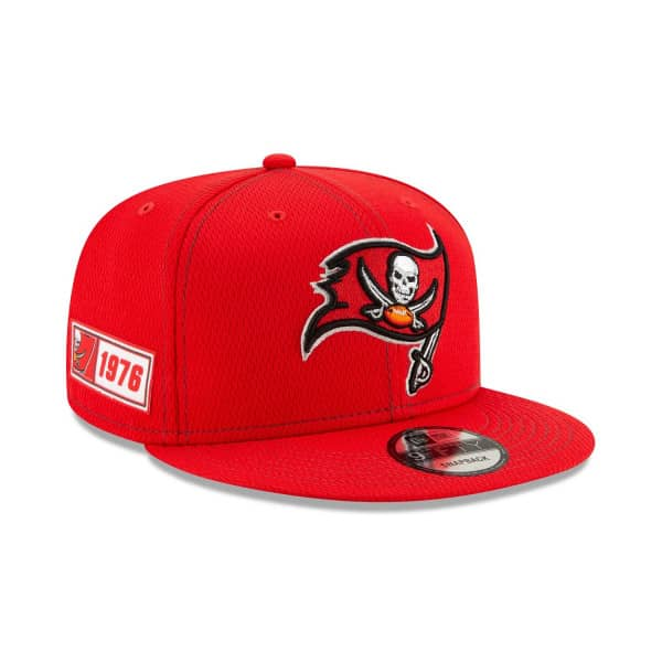 Tampa Bay Buccaneers 2019 NFL On-Field Sideline 9FIFTY Snapback Cap Road