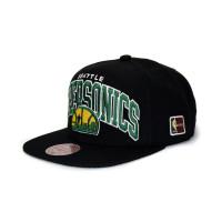 Seattle SuperSonics Arch HWC Patch Snapback NBA Cap Schwarz