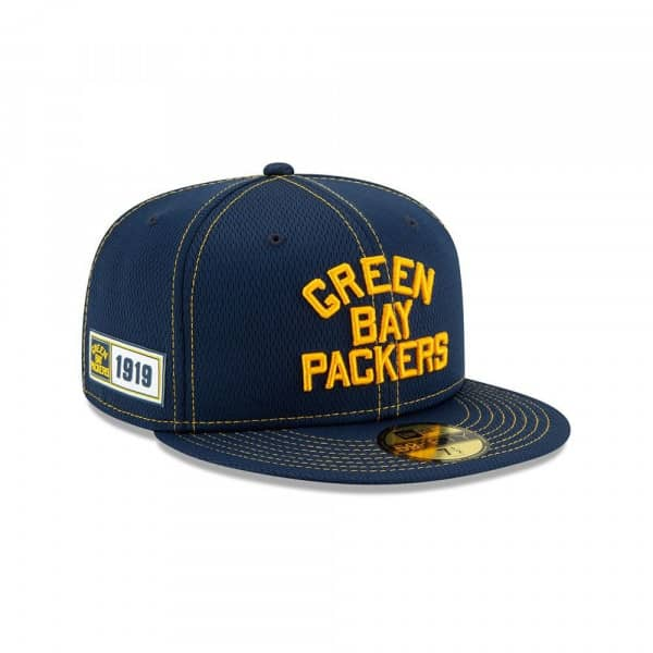 Green Bay Packers Throwback 2019 NFL On-Field Sideline 59FIFTY Fitted Cap Road