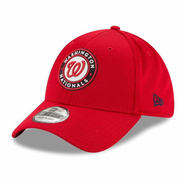 Washington Nationals 2021 MLB Authentic Clubhouse New Era 39THIRTY Flex Cap