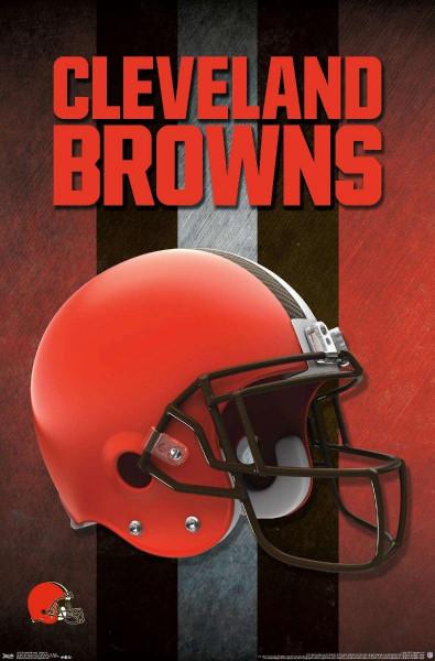 Cleveland Browns Helmet NFL Poster