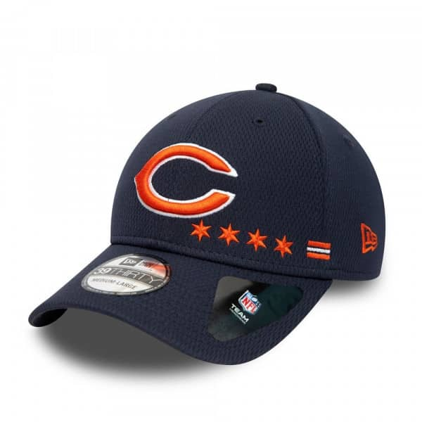 Chicago Bears Unofficial 2020 NFL Sideline New Era 39THIRTY Flex Cap Home