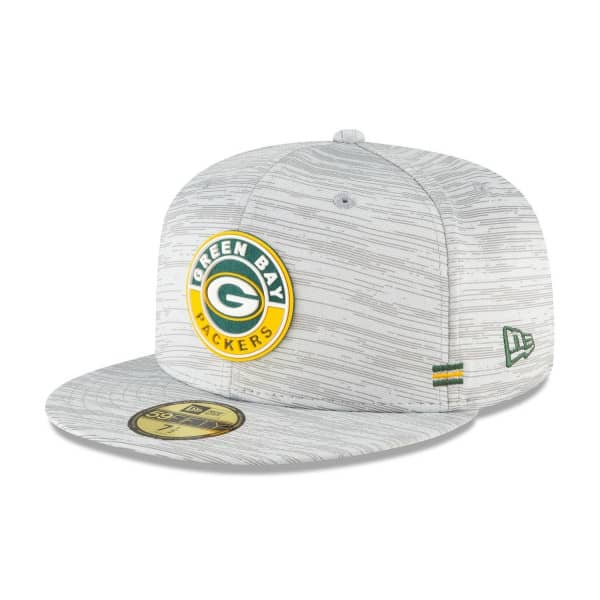 Green Bay Packers Official 2020 NFL Sideline New Era 59FIFTY Fitted Cap Road