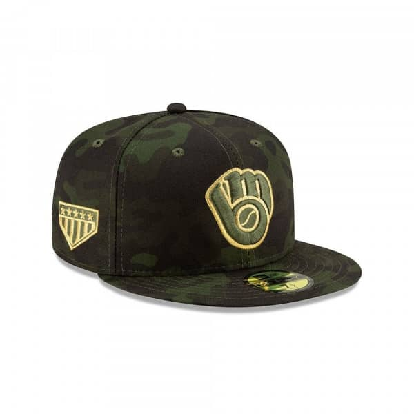 Milwaukee Brewers 2019 Armed Forces Day On-Field 59FIFTY MLB Cap