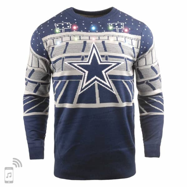 Dallas Cowboys Light Up Bluetooth NFL Ugly Holiday Sweater