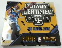 2015/16 Panini Totally Certified Basketball Hobby Box NBA
