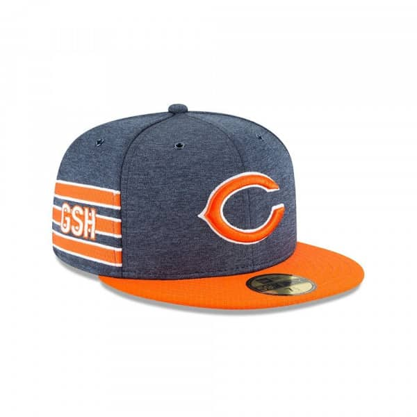 Chicago Bears 2018 NFL Sideline 59FIFTY Fitted Cap Home