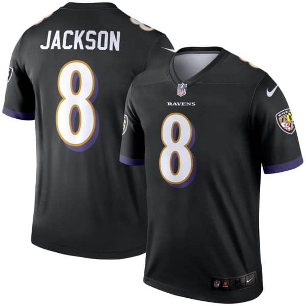 Lamar Jackson #8 Baltimore Ravens Nike Legend NFL Football Trikot Schwarz