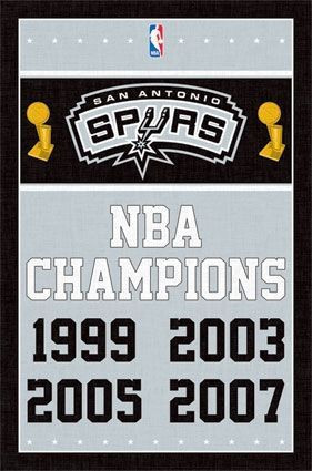 San Antonio Spurs 4-Time NBA Champions Basektball NBA Poster RP2091