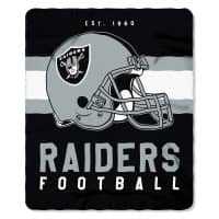 Las Vegas Raiders Singular Super Plush NFL Decke