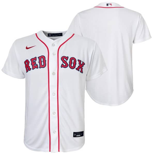 Boston Red Sox Youth MLB Replica Home Trikot Weiß (KINDER)