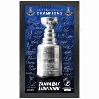 Tampa Bay Lightning 2021 Stanley Cup Champions Highland Mint Signature Trophy Bild