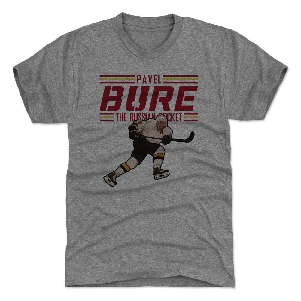 4d82391d759 500 Level Pavel Bure Russian Rocket NHL T-Shirt Grey