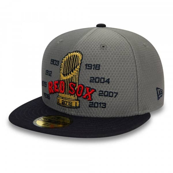 Boston Red Sox 2018 World Series Champs Trophy 59FIFTY Fitted MLB Cap