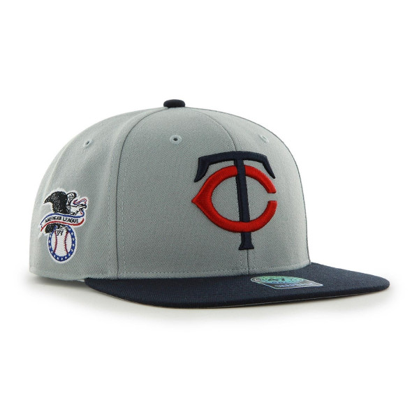 Minnesota Twins Two-Tone Sure Shot '47 Captain Snapback MLB Cap Grau