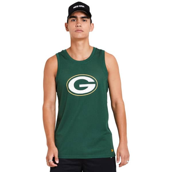 Green Bay Packers New Era Mesh Logo NFL Tank Top