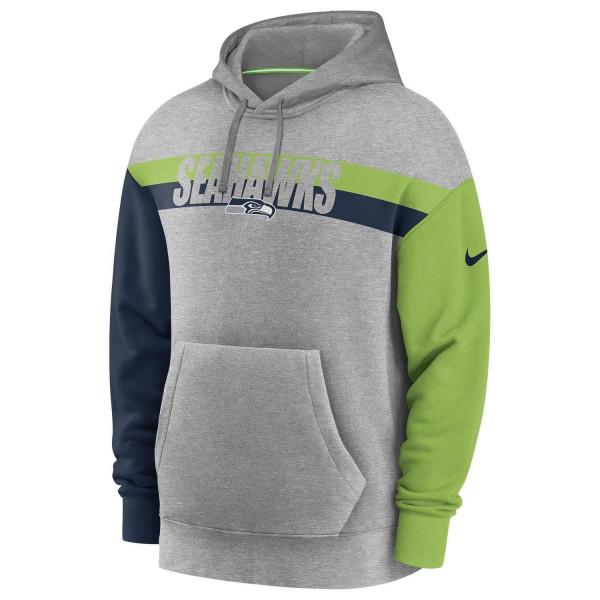 Seattle Seahawks 2020 NFL Wordmark Heritage Nike Tri-Blend Hoodie
